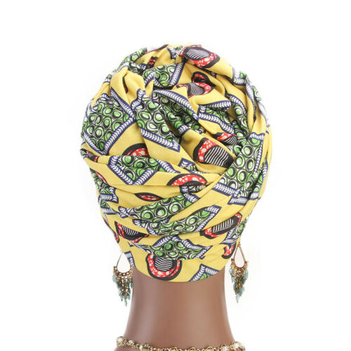 Muslim Women Hijab Flower Print Turban Elastic Arab Warp Scarf Cap Long Tail Hat