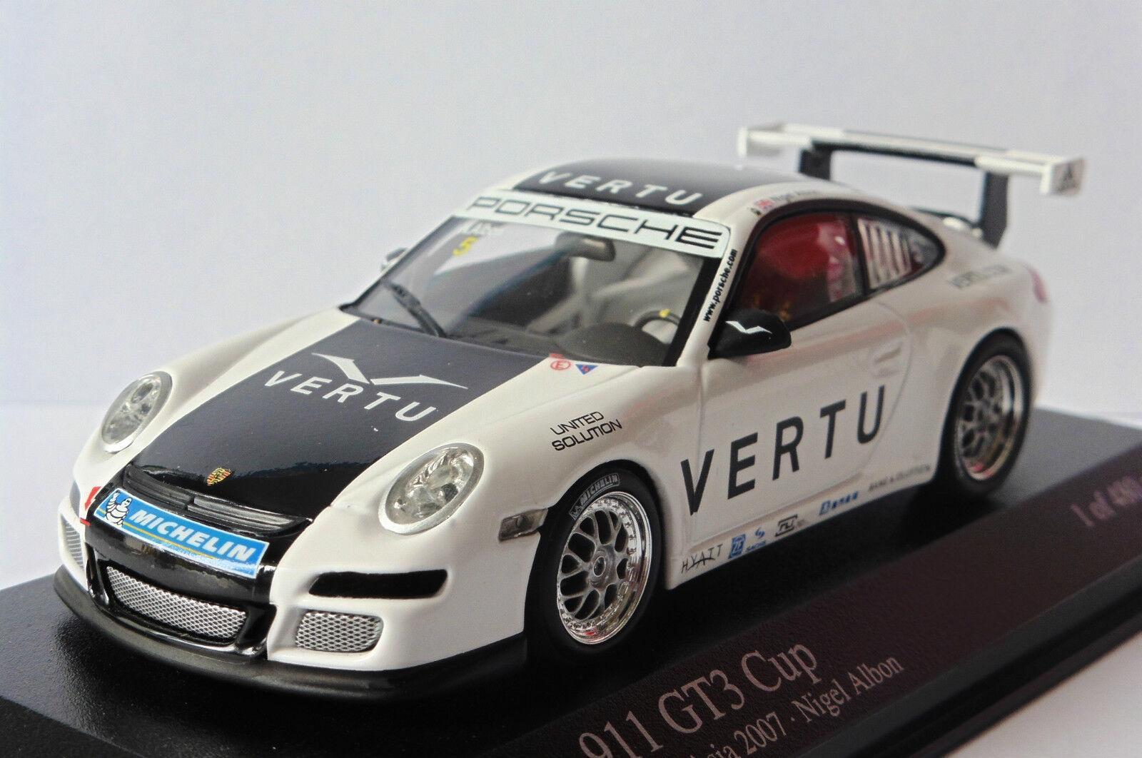 PORSCHE 911 GT3 GT3 GT3  5 CARRERA CUP ASIA 2007 NIGEL ALBON MINICHAMPS 400076405 6cd812