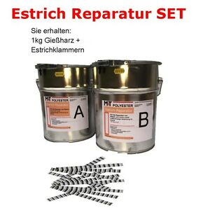 1 kg gie harz estrichklammern estrichsanierung estrich reparatur harz epoxi ebay. Black Bedroom Furniture Sets. Home Design Ideas