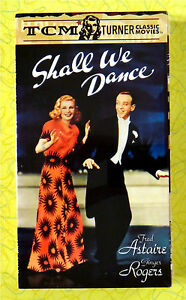 Details about Shall We Dance ~ New VHS Movie ~ Fred Astaire Ginger Rogers  Musical TCM Classic