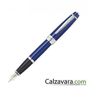 Medio M Cross Stilografica Bailey Fountain Pen Lacca Nera Lacquer Black