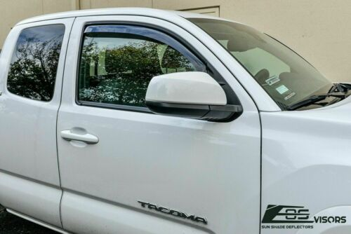 IN-CHANNEL Visors For 16-Up Toyota Tacoma Extended Cab Side Window Rain Guards