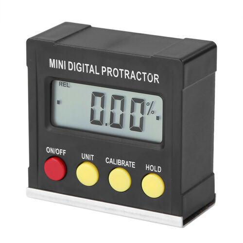 Mini Digital Protractor Gauge Level Angles Finder Inclinometers Magnet Base Kit