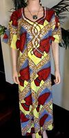 Lady Mia's of Africa XXL Women's African Dress Tunic Caftan 100% Wax Cotton NWT