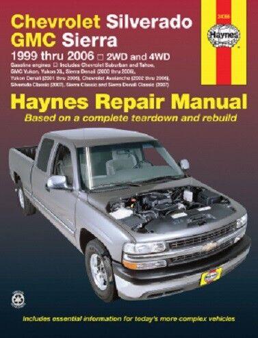 1999-2006 Silverado Sierra Avalanche Suburban Tahoe Repair Service Manual 6814