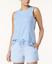 Nautica-women-039-s-Side-Striped-Sleeveless-Pajama-Top-Light-Royal-Medieval-Blue thumbnail 9