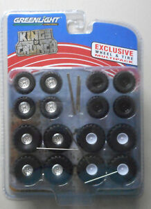 Kings-Crunch-Wheel-amp-Tire-Multi-Pack-1-64-Greenlight-Collectibles-for-Die-cast