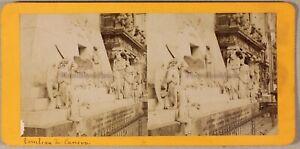 Der-Grab-von-Canova-Venedig-Italien-Foto-Stereo-PL55L2n-Vintage-Albumin-c1870