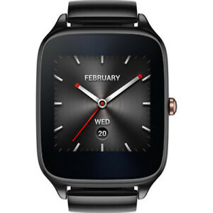 New-ASUS-ZenWatch-2-Android-Wear-Smartwatch-GunMetal-Casing-Gray-Metal-Band
