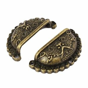 10pcs Dragon Shell Boutons De Commode Tiroir Poignée De Meubles Anciens Poignées-afficher Le Titre D'origine