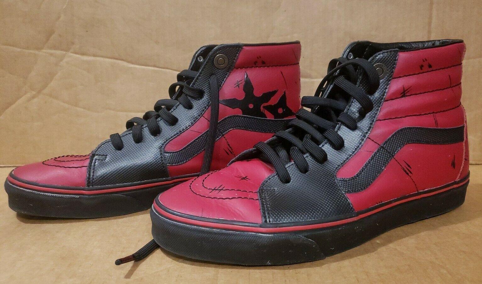 Vans x Marvel SK8-Hi Deadpool Red/Black