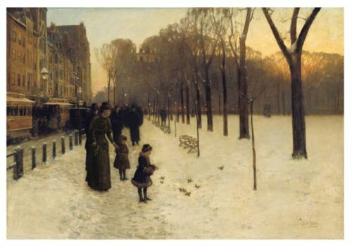 Boston Common at Twilight 1885-86 by Childe Hassam Art Print Poster 11x14