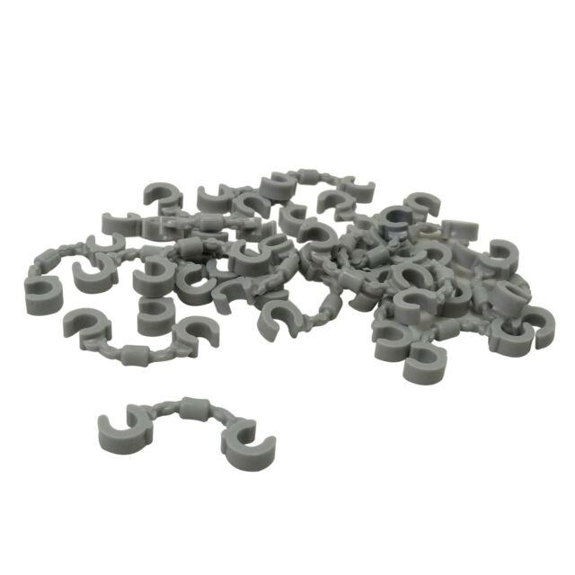 QTY 5 Light Bluish Gray Minifigure Utensil Handcuffs LEGO Parts No 61482