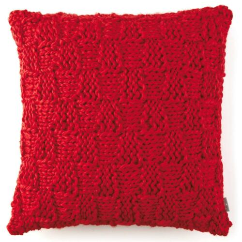 Hallmark Holiday Home Decor Red Chunky Cable-Knit Accent Pillow