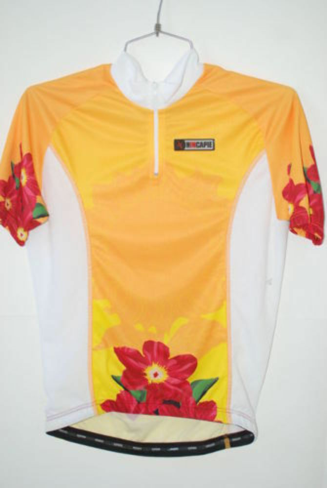Hincapie Sportswear Women's Cycling Jersey 1 4 zip Small S Road Bike Top Flowers