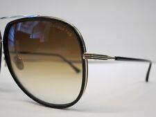 ce50d0cd5f05 DITA CONDOR TWO Black 12K Gold Brown Lens Optique Glasses Eyewear Sunglasses