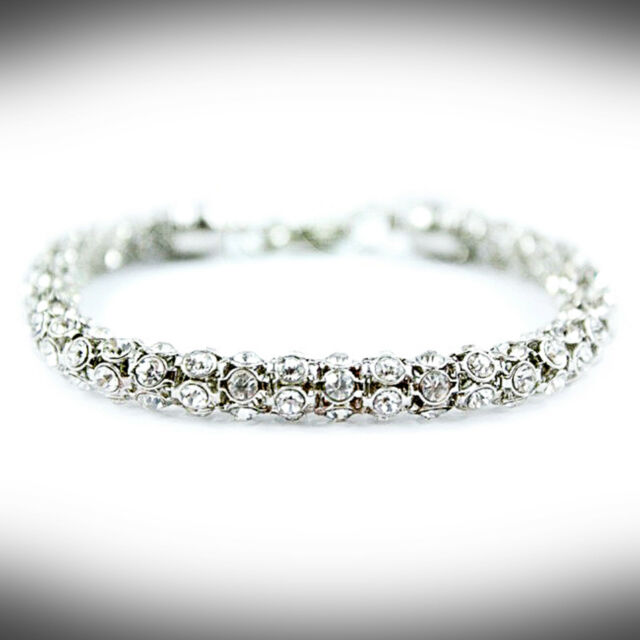 Womens Effervescence Xs Cord Silver Glitter Bracelet Jewellery Vh7