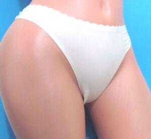 STEVE MADDEN Ivory Nylon Stretchy Sissy Thong Bikini Panties S M L ... acadbe10a