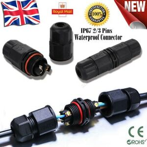 IP67-Waterproof-Electrical-Cable-Wire-2-Pin-3-Pin-Connector-Outdoor-Plug-Socket