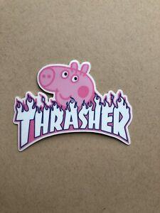 Thrasher Peppa Pig Logo Sticker Ebay