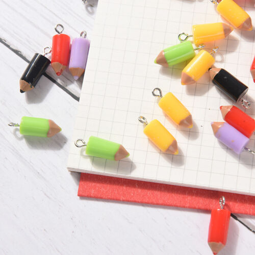 10PCS Mixed Pencil Jewelry Crafts Charm Pendant Keychain Necklace DIY Finding RF