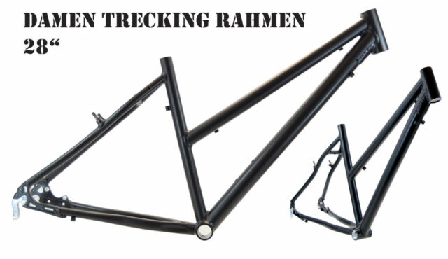 Trekkingrad Sport Damen Rahmen 45 cm schwarz matt 28