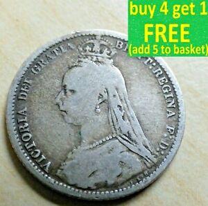 La-reine-Victoria-ou-Edward-VII-Sixpence-6D-Argent-1837-1910-CHOISISSEZ-VOTRE-DATE