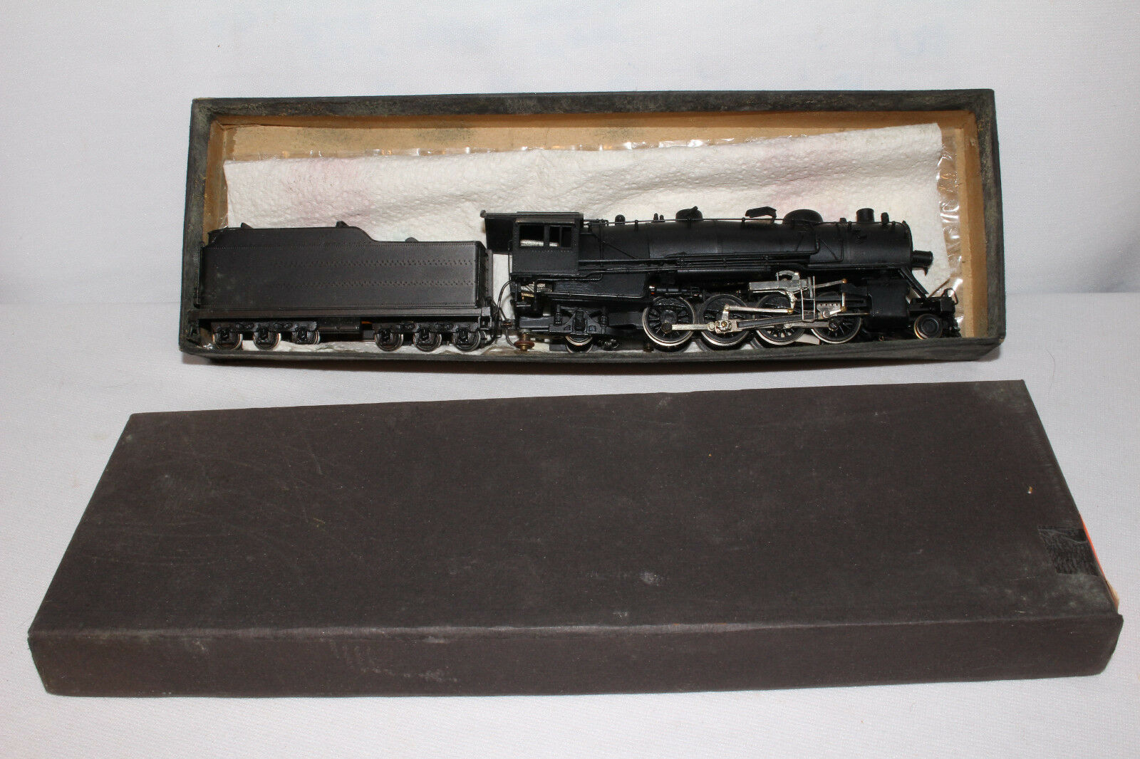De Bronce Hecho En Japón 2-8-2 Locomotora A Vapor Con Tender, Bonita Original