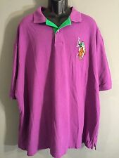 U.S. Polo Assn Embroidered Stitched Mens 4XL Big Logo Colored Purple Polo Shirt