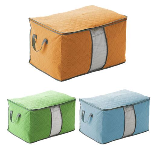 Foldable Home Closet Storage Bag Organizer Box Anti-bacterial Cloth Quilt USA US