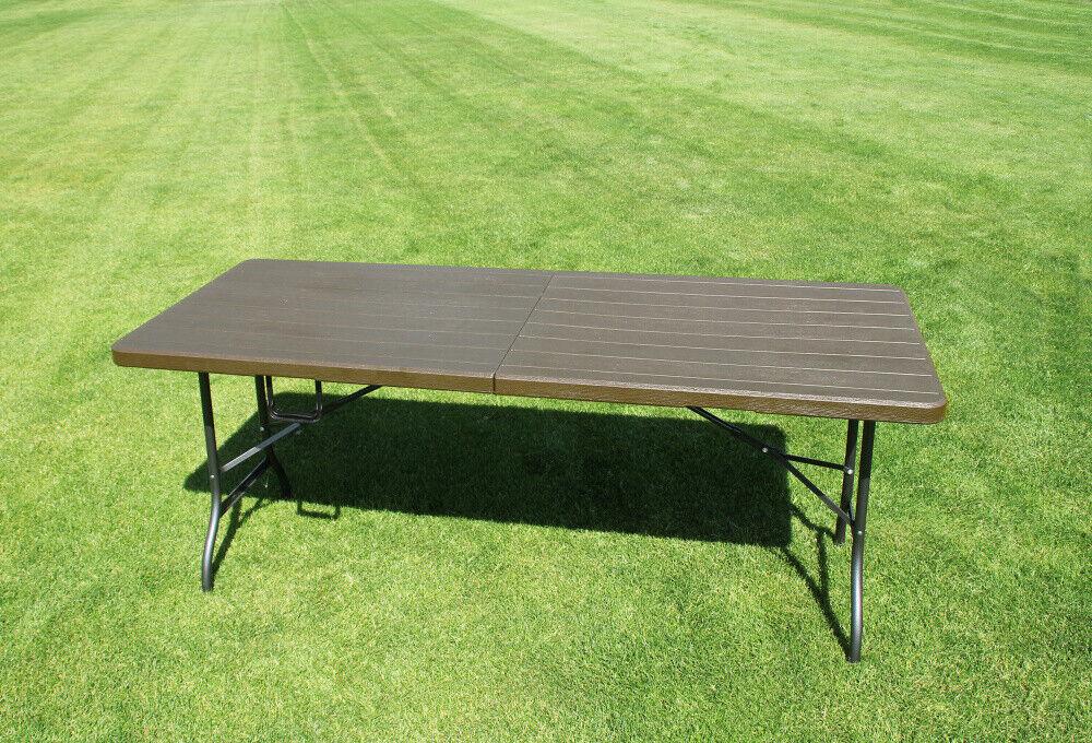 Gartentisch in Holz-Design Klapptisch Esstisch Koffertisch Buffet Camping Möbel