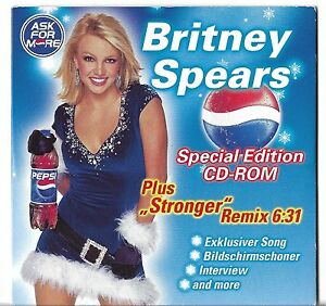 Details about RARE GERMAN PROMO CD BRITNEY SPEARS PEPSI - ASK FOR MORE  STRONGER REMIX