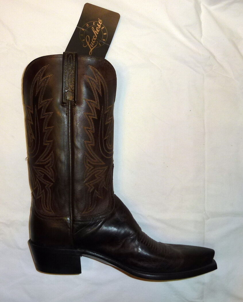 Lucchese N4554 Size 11C Womens 1883 Savannah Western Boots BROWN BURNISHED NEW