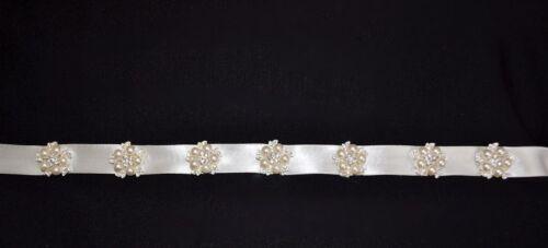 Neu Brautgürtel zum Brautkleid Gürtel Kleid Strass Perlen ivory
