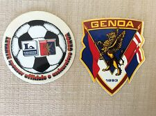 2 ADESIVI CALCIO GENOA CRICKET FOOTBALL CLUB 1893 SPONSOR LEVANTE GRIFO ANNI '90