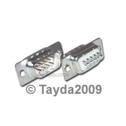 FREE SHIPPING High Quality 10 x D-SUB CONNECTOR 9 PINS MALE