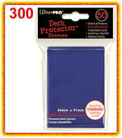 300 Ultra Pro Deck Protector Card Sleeves Blue Sealed 6 Packs Gaming Magic