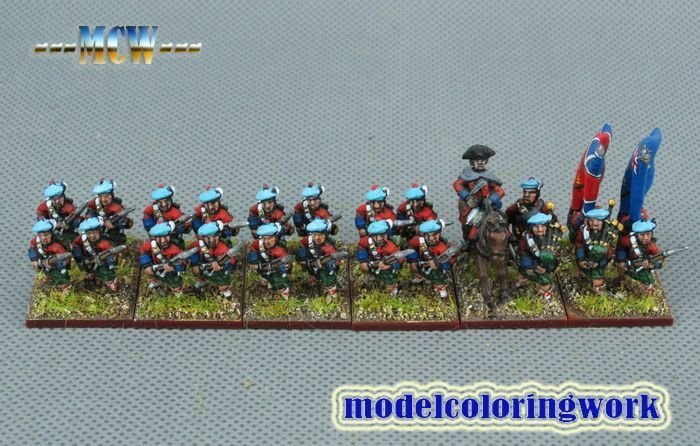 15mm SYW Seven Years War WGS painted British Musketeer Btln Ba7