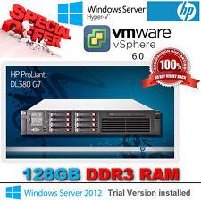 HP Proliant DL380 G7 2x 2.66Ghz Six Core X5650 Xeon 128GB RAM 8x146Gb SAS P410i