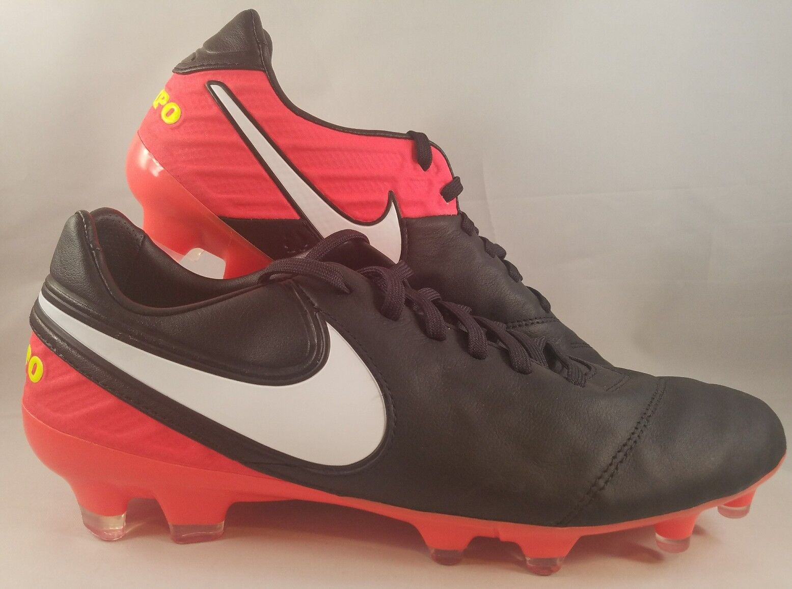 961f8627b59 Nike Tiempo Legacy II 2 FG Firm Ground Soccer Cleats 819218-018 Men Size 8