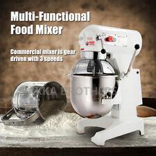 Hakka 20qt Commercial Dough Food Mixer 1100w 3 Speed Gear Driven Pizza Bakery