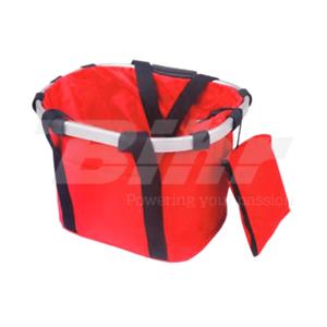 977RJ Borsa da trasporto 17 Lt per bici fissaggio manubrio color rossa