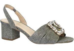 GATTINONI-CLIO-LUREX-scarpe-donna-sandali-decollete-pelle-tacco-casual-gioiello