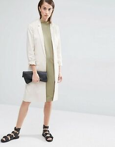 Selected Beige Women £135 In Rrp 14 us Uk 10 eu Belted Coat Miriam 42 rrXwf