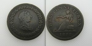 Collectable-1812-Half-Penny-Token-No-Legend-Bust-In-Oak-Wreath