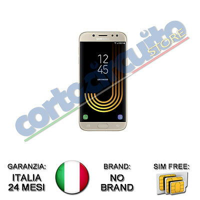 "SAMSUNG GALAXY J5 DUAL SIM 2017 ORO GOLD 5.2"" 16GB 4G 13MP GAR ITALIA NO BRAND"