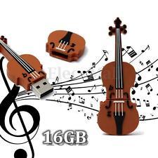 16GB USB 2.0 Mini Violin Model Flash Memory Stick Storage Thumb Pen Drive U Disk