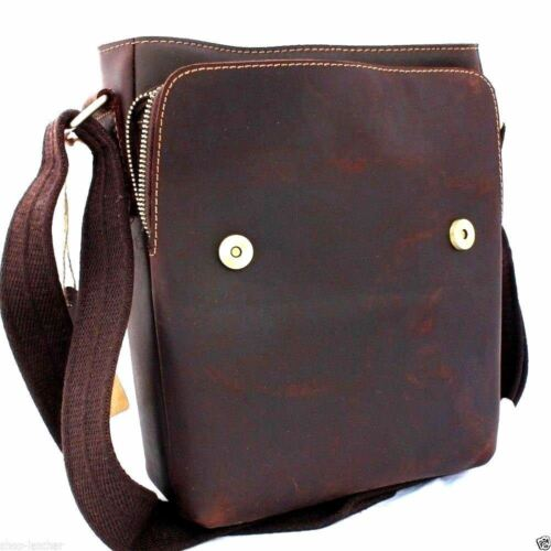 genuine Leather men Bag Messenger for iPad air retro cross body Shoulder Satchel
