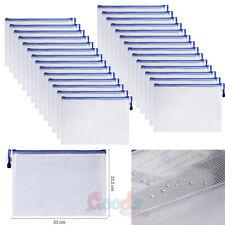 1530 Pcs A4 Document Zipper File Bag Office School Storage Organizer Waterproof