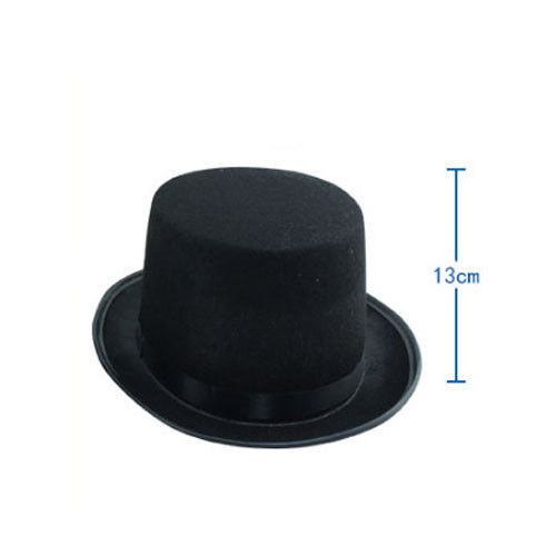 Magician Costume Tall Top Black Hat Steampunk Adult Performing Harry Mat Hatter